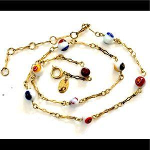 PARK LANE Millefiori Glass Beaded Necklace Vintage